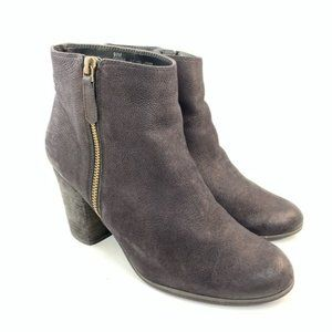 Bp. Black tumbled leather booties size 9.5